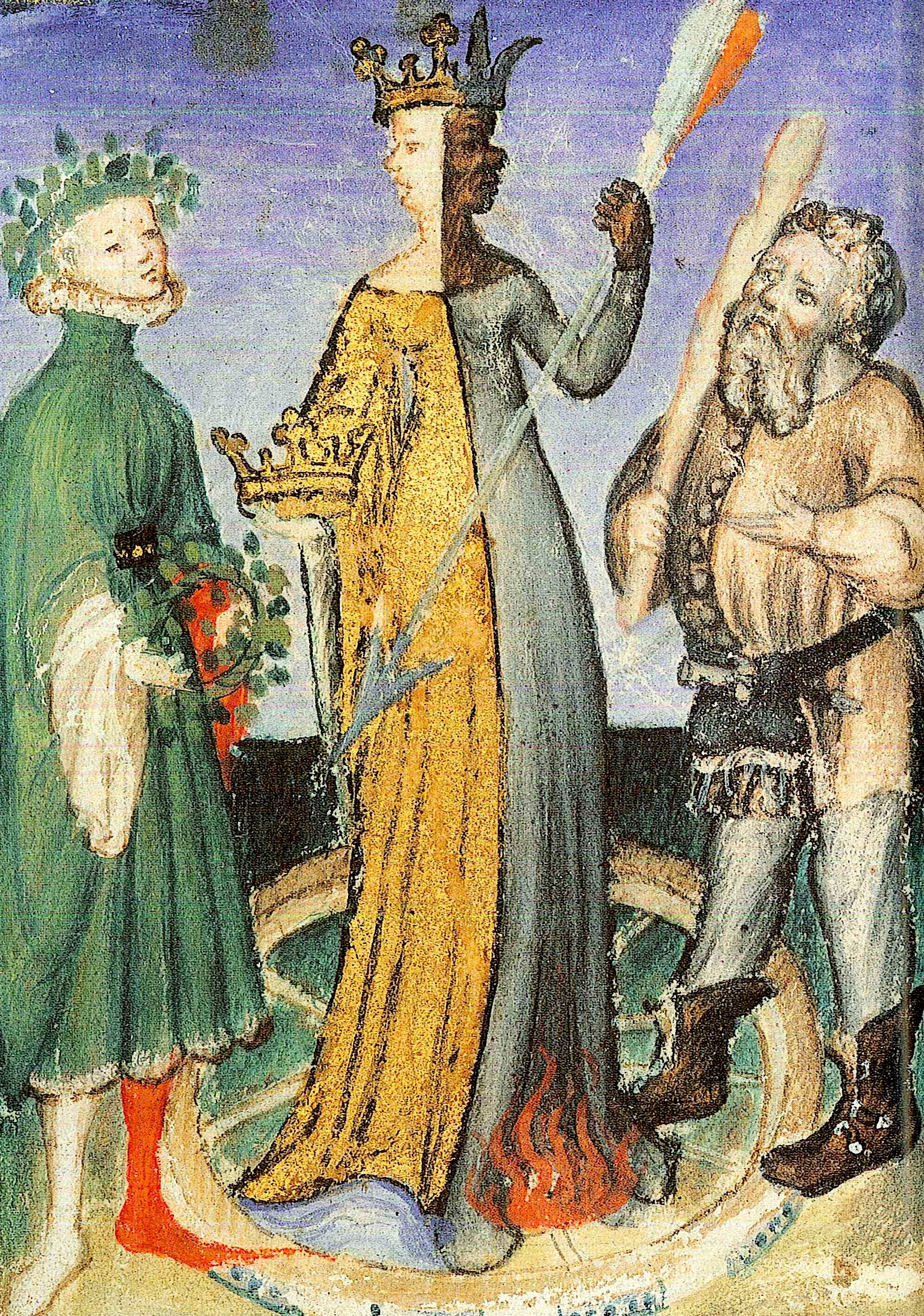Miniatura da un Codice del Livre de la mutation de fortune 1420-1430