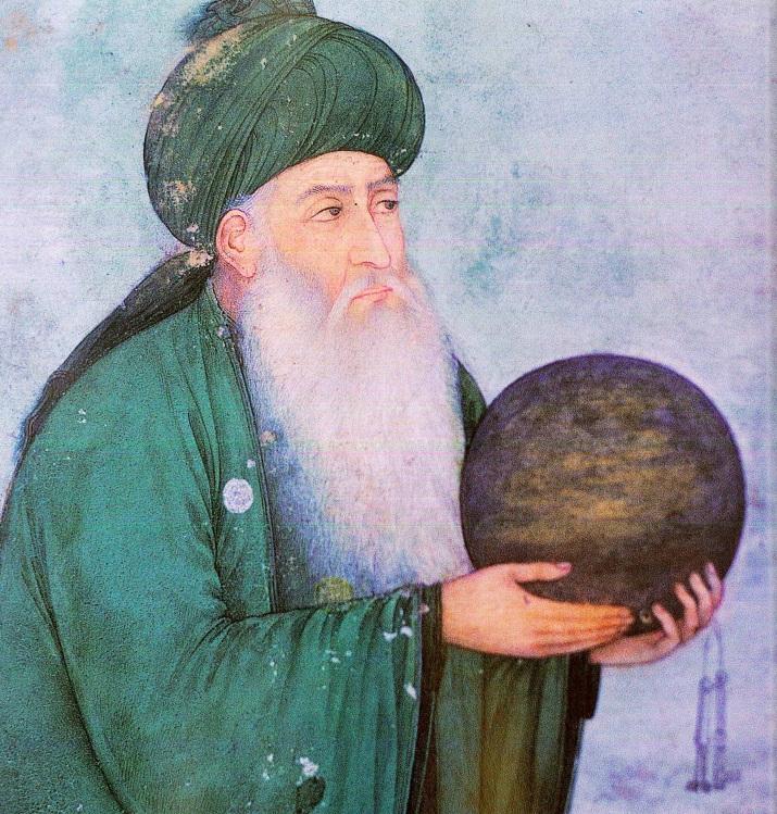 Al-Khidr, figura del Corano, Miniatura Moghul, sec. XVIII